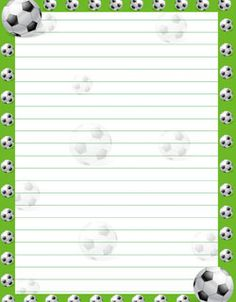 free soccer stationery from PrintableTreats.com