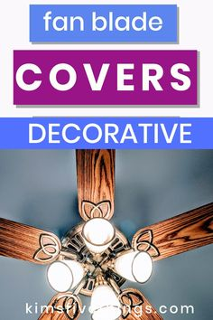 How to update a ceiling fan by using decorative covers. Fan blade covers {tropical and palm}