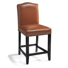 "Carson Bar & Counter Stool Camel Leather 24"" or 30"" $229"