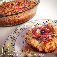 #cornflower and #mint #cheesecake - Cheesecake fregoloso con fiordaliso e menta www.fattoriadelleerbe.it