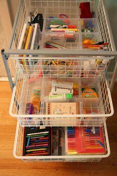 Organizing Art Supplies With An Art Cart — Wee Wonderfuls