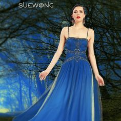 Sue Wong spaghetti strap gown with pleated and beaded top, and two-toned waterfall skirt…  #teamsuewong #suewong #fashion #coutureinspired #picoftheday #glamorous