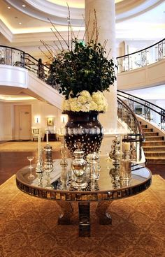 Home glam, glam staircase and second floor walkway