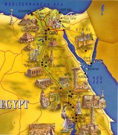 Image detail for -egypt maps for kids