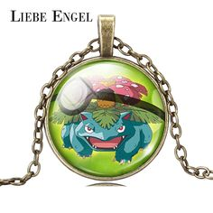 Find More Pendant Necklaces Information about LIEBE ENGEL Fashion Jewelry Pokemon Venusaur Necklace Pokeball Art Picture Glass Cabochon Chain Pendant Necklace Women Gift 2016,High Quality necklace display,China gift Suppliers, Cheap necklace bear from LIEBE ENGEL Official Store on Aliexpress.com
