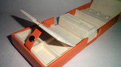 Jewelry Valet Travel Organizer Box Chest Carrier Case Tote Orange