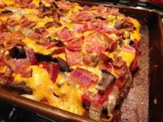 Hamburgers. Pizza. Bacon. Combine it all together and you get a Hamburger Deluxe Meatza. I was inspired last week when I made PaleOMG's M...