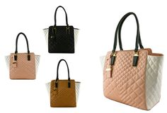 #FashionHandbags #DesignerHandbags #Designertotebag  #Designertotebags #tote   #totebag   #womantotebag  LUX29793 ICHTHYS DESIGNER TWO TONE QUILETED TOTE BAG  WWW.WHOLESALENEOBAGS.COM   Zipper top closure  Textured faux leather  Inside lining with open/zipper pockets  20 inch handles & 52 inch adjustable strap  12 (W) x 5 (D) x 13 (H) inches