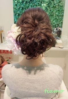 可愛い花嫁さまの1スタイルで和装&洋装アップヘア♪リハ編  大人可愛いブライダルヘアメイク『tiamo』の結婚カタログ Ameba (アメーバ)