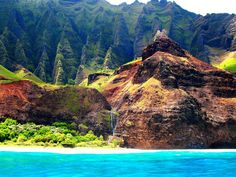 Kaua'i's Na Pali (translated, the cliffs) coastline is absolutely spectacular.