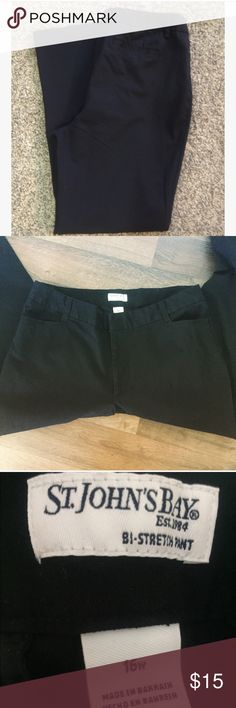 St. John's Bi-Strech Pants Selling these for my sister.  Pants were worn once. In Excellent Pre-Loved Condition Size:  16w My Home is Smoke and Pet Free No Trades St. John's Bay Pants Trousers
