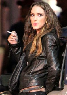 Winona Ryder on the set of Homefront in New Orleans
