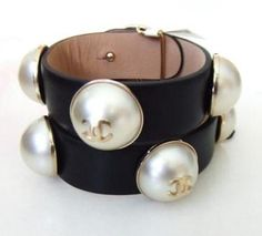 New 2013 Spring Summer Bubble Pearl Leather Dress Bracelet W/ Bag