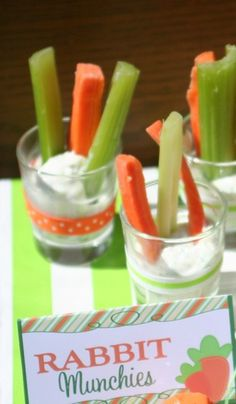 Rabbit munchies at an Easter Party! See more party ideas at CatchMyParty.com!
