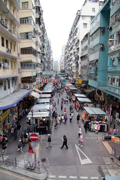 Day 1: View of Fa Yuen Street  from a raised walkway, #HK #HongKong
