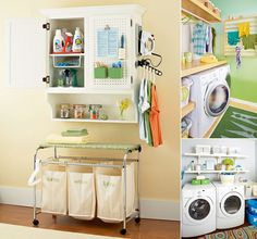 10 Clever Space-Saving Ideas for a Small Laundry Room - http://www.amazinginteriordesign.com/10-clever-space-saving-ideas-small-laundry-room/