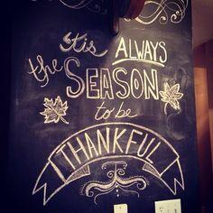 Thanksgiving chalk wall art