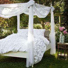White Pintuck Duvet Set Crane & Canopy