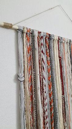 Bohemian Yarn Tapestry, Yarn Wall Hanging Hand Made , Bohemian Yarn Tapestry, Yarn Wall Hanging Bohemian Yarn Tapestry Yarn Wall Hanging Yarn Wall Art, Yarn Wall Hanging, Wall Hangings, Hanging Tapestry, Tapestry Wall, Hanging Fabric, Mundo Hippie, Yarn Crafts, Diy Crafts