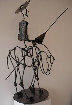 "Eduardo Enrique Alessio. ""Quijote"". Escultura. Hierro."