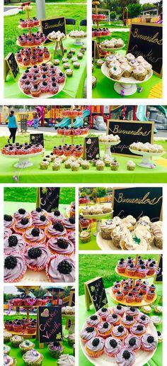Mesa de Cupcakes Miel y Panecillos. Lila.