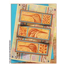 Crafty Individuals CI-265 - 'Quirky Birds' Art Rubber Stamp, 80mm x 80mm - Crafty Individuals from Crafty Individuals UK