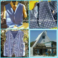 Vintage Blue Provence Men Vest Cotton Made Reversible Cow Boy Vest Snap Fastener Buttons Medium #sophieladydeparis #freeshipping