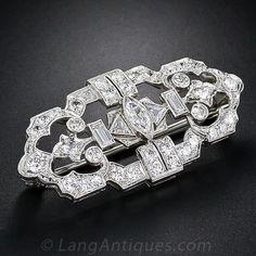 Platinum and Diamond Art Deco Brooch