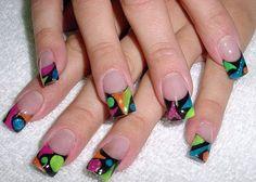 Neon Fun French by csmith - Nail Art Gallery nailartgallery.nailsmag.com by Nails Magazine www.nailsmag.com #nailart
