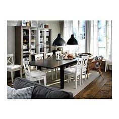 """SMITH BANQUETTE:  INGOLF Chair - white - IKEA, 17""""W x 20.5""""D - $49 each"""