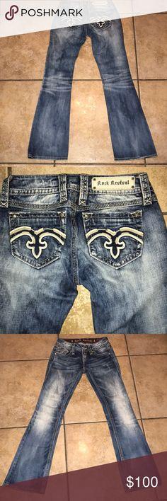 Rock Revival Alanis Bootcut Jeans Size 26 EUC Rock Revival Alanis Bootcut Jeans Size 26 EUC inseam approx 32 inches Rock Revival Jeans Boot Cut
