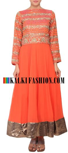 Buy Online from the link below. We ship worldwide (Free Shipping over US$100) http://www.kalkifashion.com/anarkali-suit-embellished-in-sequence-and-zardosi-embroidery-only-on-kalki.html