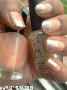 CURRENTLY LOVING N*de GLITTER OMBRE NAILS