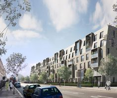 Alison Brooks Architects _ South Kilburn Estate Regeneration _ Bronte and Fielding _ Visualisation Kilburn