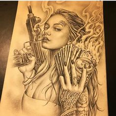 Chicano Style Tattoo, Art Chicano, Chicano Drawings, Arte Cholo, Cholo Art, Tattoo Design Drawings, Tattoo Sketches, Tattoo Designs, Body Art Tattoos