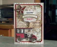 OOAK Handmade Father's Day Card was made using items from the Anna Griffin Cards for Him Too collection.