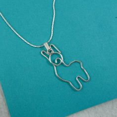 Albert Alpaca Hammered Wire Necklace $15