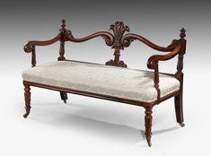 ~ Antique Seat c. 1835 England ~ onlinegalleries.com