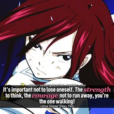 Erza Scarlet from Fairy Tail, everyone! Fairy Tail Family, Fairy Tail Love, Fairy Tail Anime, Rin Okumura, Anime Qoutes, Manga Quotes, Me Anime, Anime Life, Anime Stuff