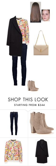 """""""Sem título #6504"""" by gracebeckett ❤ liked on Polyvore featuring Dsquared2, Laurence Dacade, MSGM, The Row and Yves Saint Laurent"""