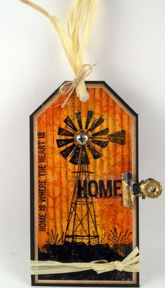 Suzz's Stamping Spot, Darkroom Door, Photo Stamps Windmill, Alcohol INks, Tag, Home Sweet Home, Suzanne Czosek