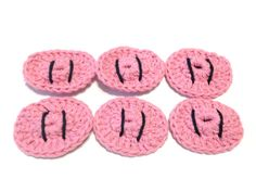 Itty Bitty Crocheted Piggie Snouts Make-Up by MeAndMomsCrafts