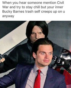 Oh look, a post that accurately describes my life. <-I cannot help it anytime someone talks about Cap or Bucky. I get super excited and geeky so that it just pours out of me.