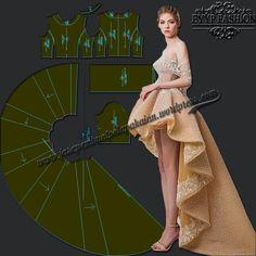 Deskripsi : Pola dengan model draperi dan princess dengan aksen lipit. Tersedia dalam ukuran S,M dan L Pola dalam bentuk file pdf, print menggunakan kertas A4 dengan skala 100% atau actual size. F…