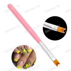 Pro 1Pcs Acrylic UV Gel Polish Nail Art Painting Drawing French Pink Cute Manicure Pen Brush Design DIY Tools High Level Nylon