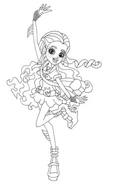 printable photos lagona blue coloring pages monster high coloring pages kidsdrawing free coloring