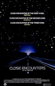 A great poster from the Steven Spielberg movie Close Encounters of the Third Kind! The classic sci-fi film about UFOs and alien abduction! Need Poster Mounts. Foreign Movies, Sci Fi Movies, Old Movies, Vintage Movies, Great Movies, Movie Tv, Fiction Movies, Awesome Movies, Movie Props