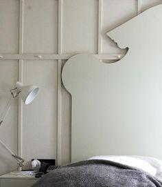 Cutout headboard by Ilse Crawford