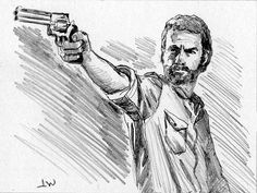 Rick From The Walking Dead ACEO Sketch Card by Jeff Ward #thewalkingdead #rick #aceo #sketchcard