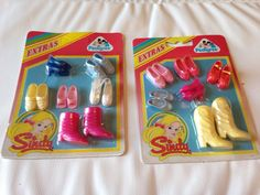 Vintage Sindy Pedigree Shoes Boots Carded Rare Sealed Dancing Balet 11.49+6.99  We had both these sets.